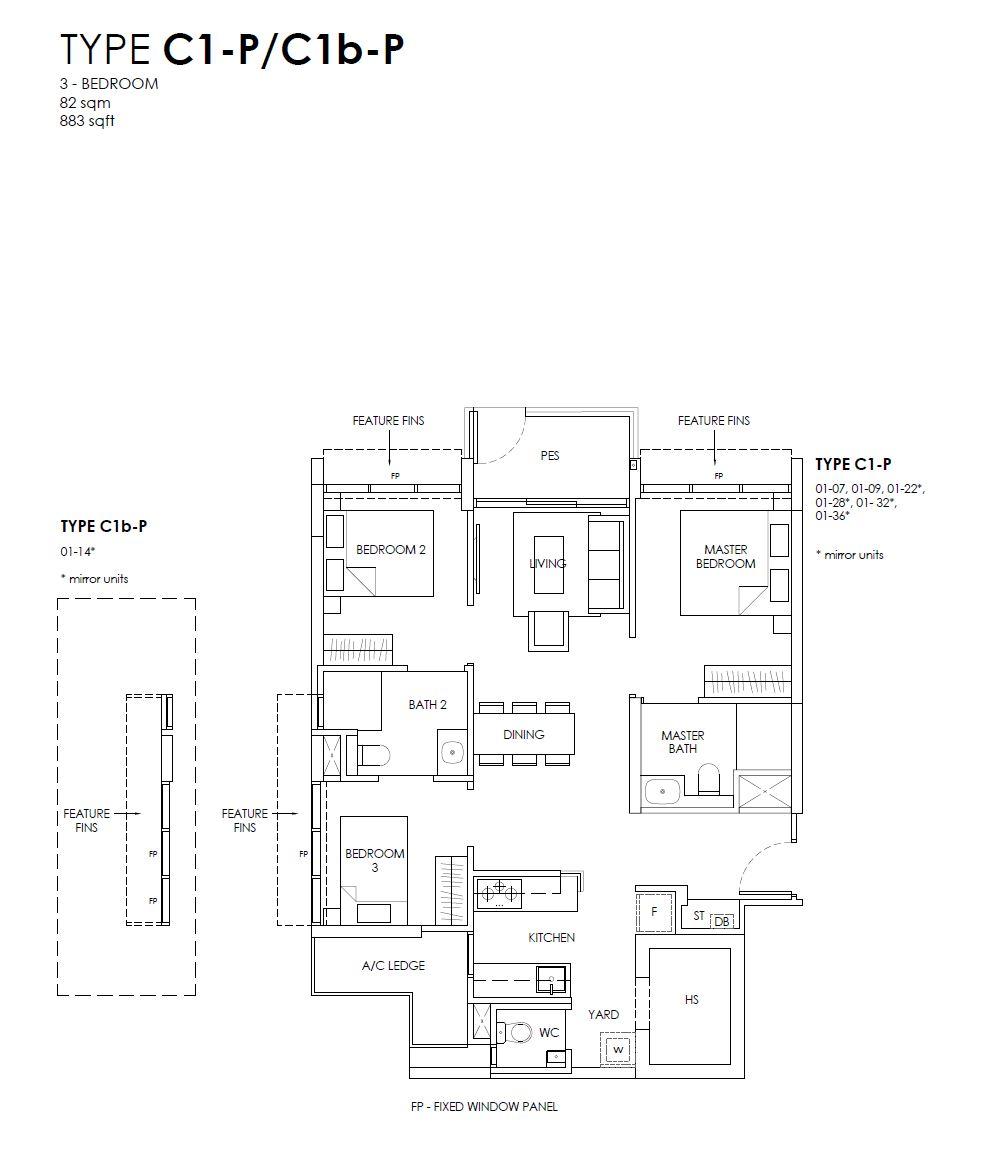 Provence Residence C1 floor plan