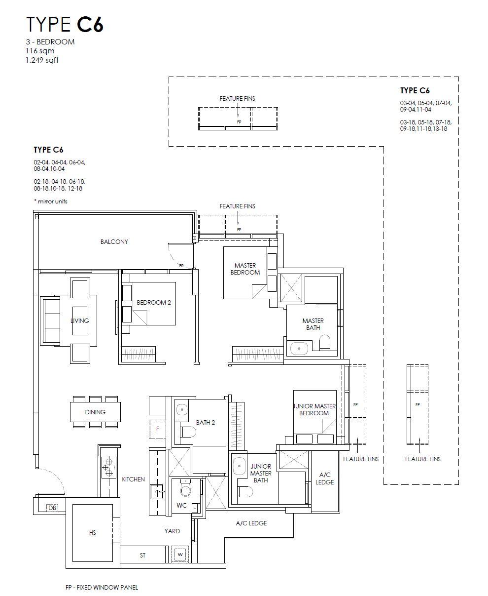 Provence Residence C6 floor plan
