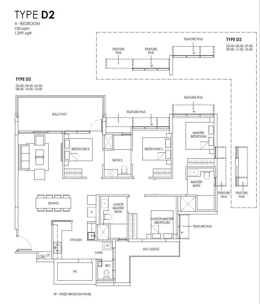 Provence Residence D2 floor plan