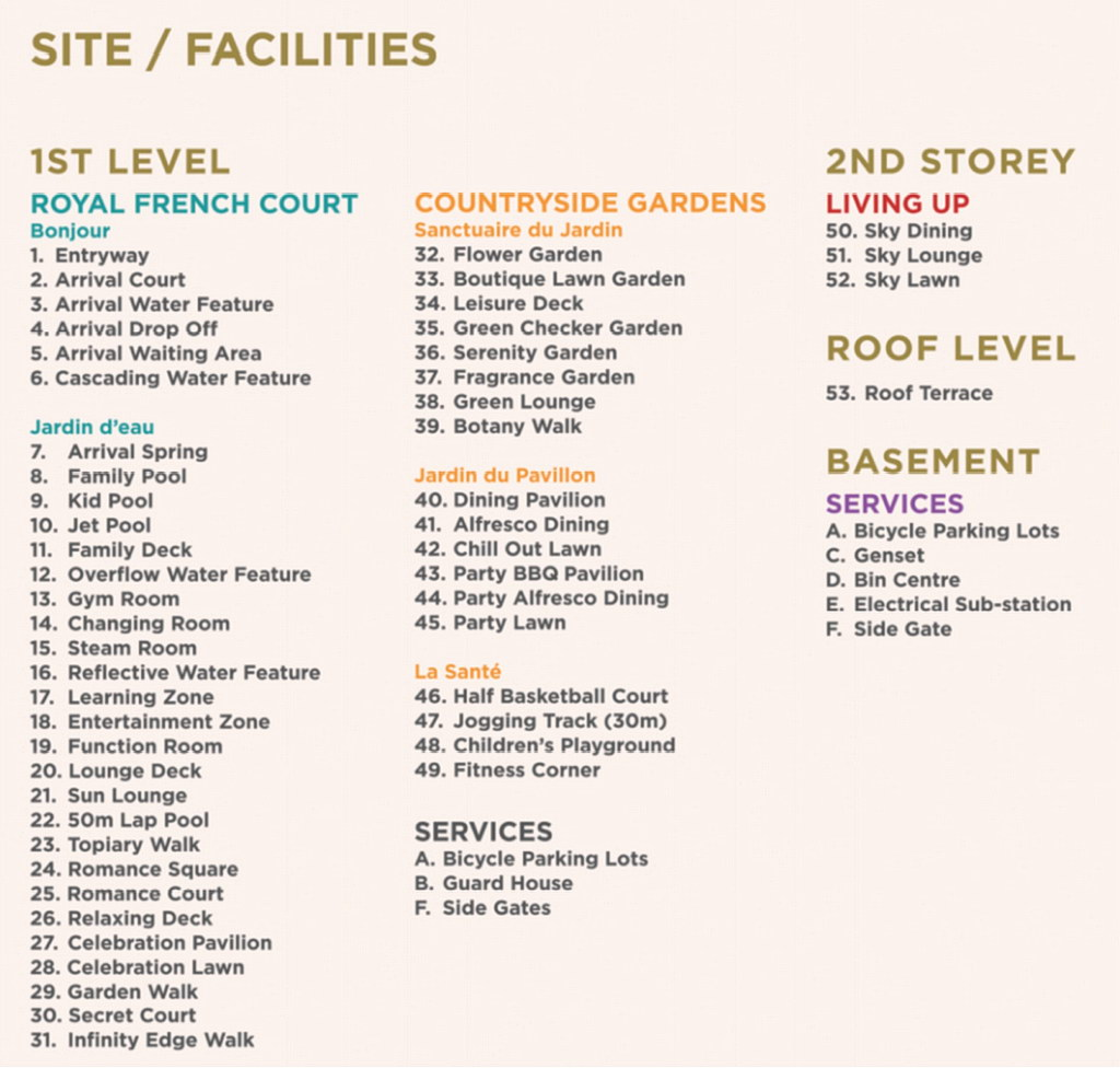Provence Residence Facilities